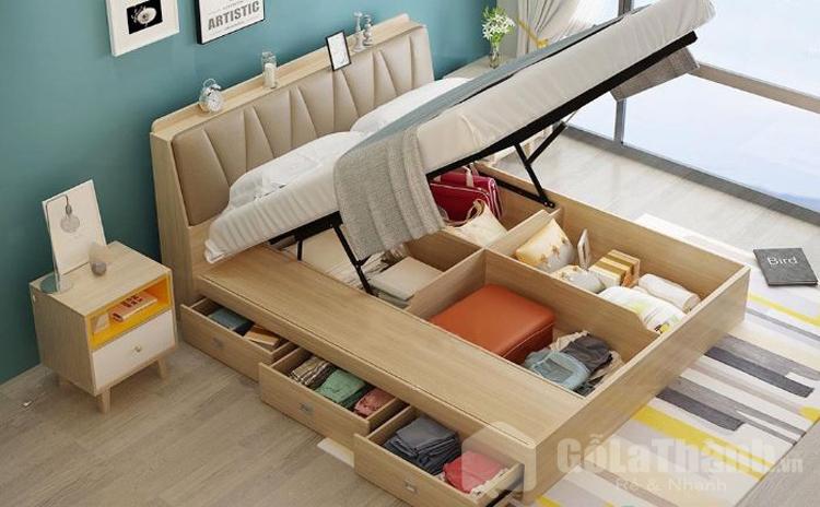 thiết kế mặt giường có hệ thống nâng