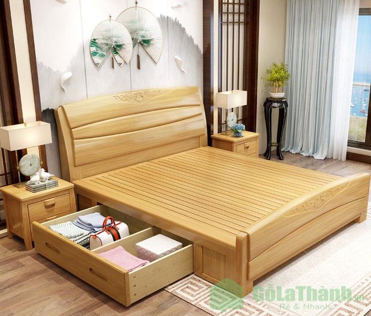 giường ngủ có hộc kéo bên hông giường