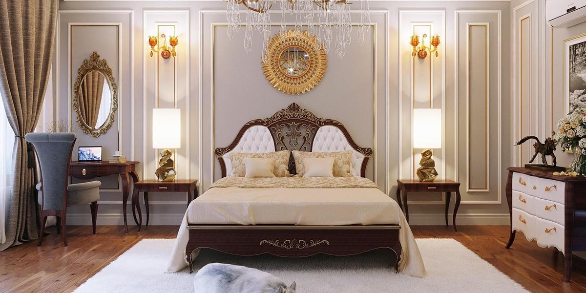 Giường tân cổ điển – điểm nhấn thời thượng cho không gian