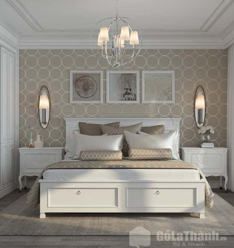 giường trắng