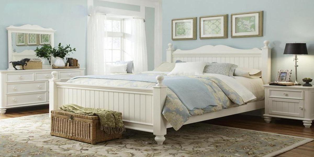 giường trắng đẹp