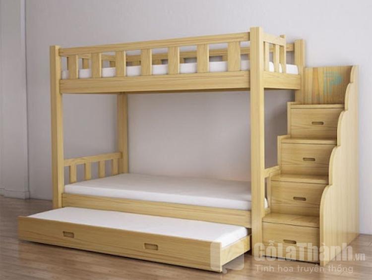 thiết kế 2 tầng với 3 chiếc giường