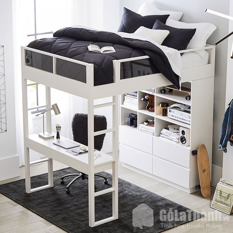 thiết kế tầng tích hợp bàn làm việc