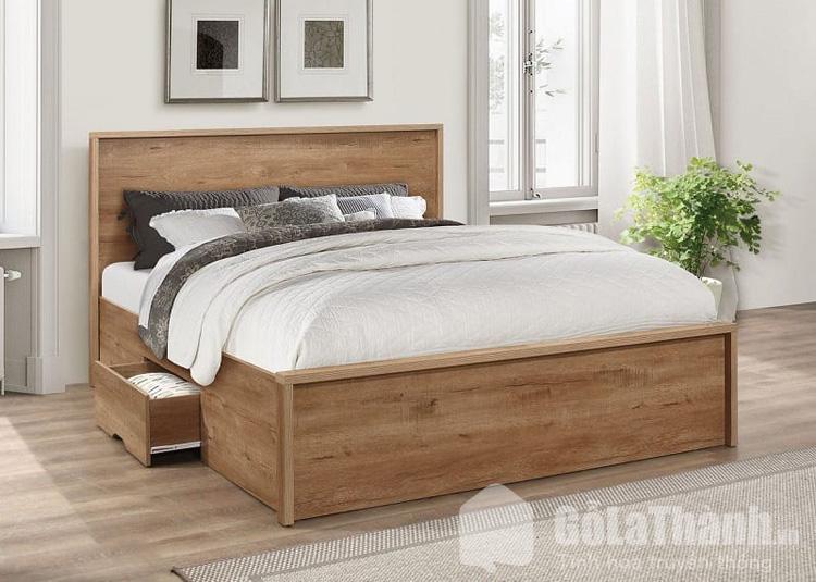 giường ngủ gầm thấp gỗ tự nhiên