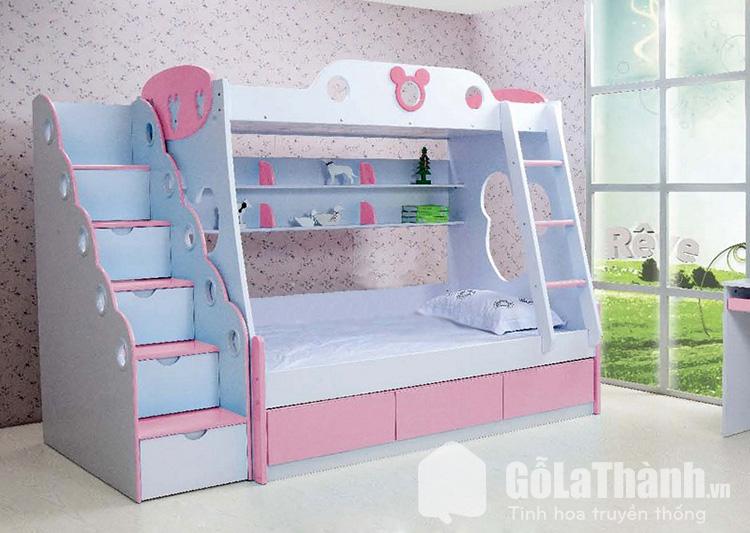Giường hai tầng cho trẻ em thiết kế thông minh tiết kiệm diện tích