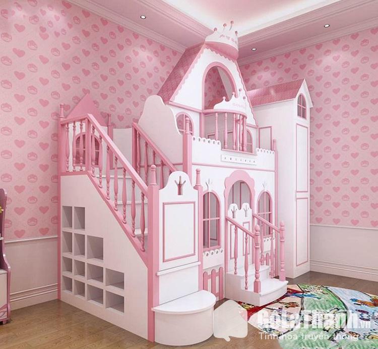 Giường hai tầng cho trẻ em có thiết kế cồng kềnh hơn giường đơn