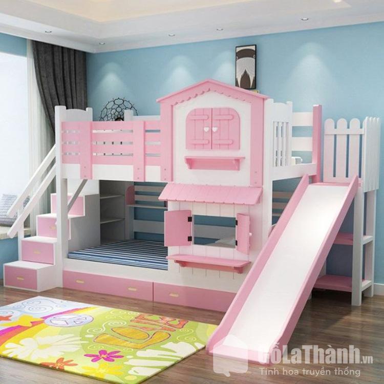 Giường hai tầng cho trẻ em có màu sắc bắt mắt