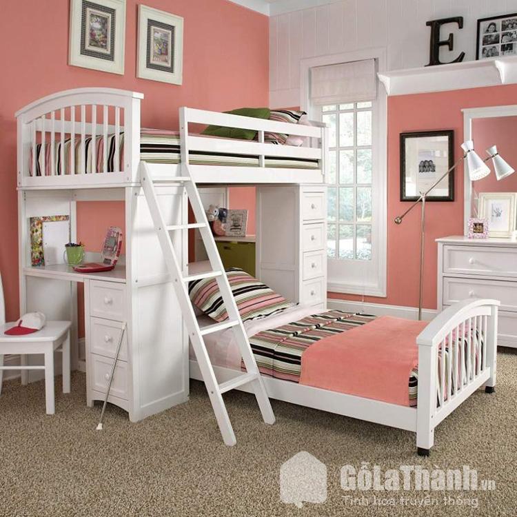 Giường hai tầng cho trẻ em tích hợp nhiều tính năng