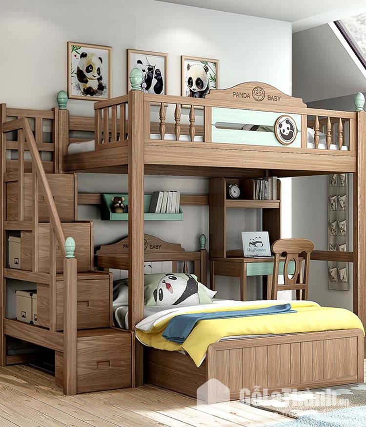Giường hai tầng công chúa cho bé gái