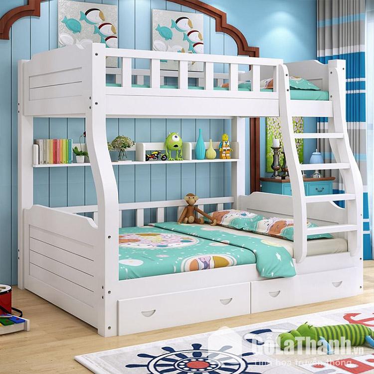 Giường 2 tầng trẻ em gỗ tự nhiên