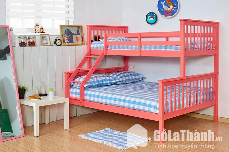 Giường tầng phù hợp nhà có 2 con gần tuổi nhau