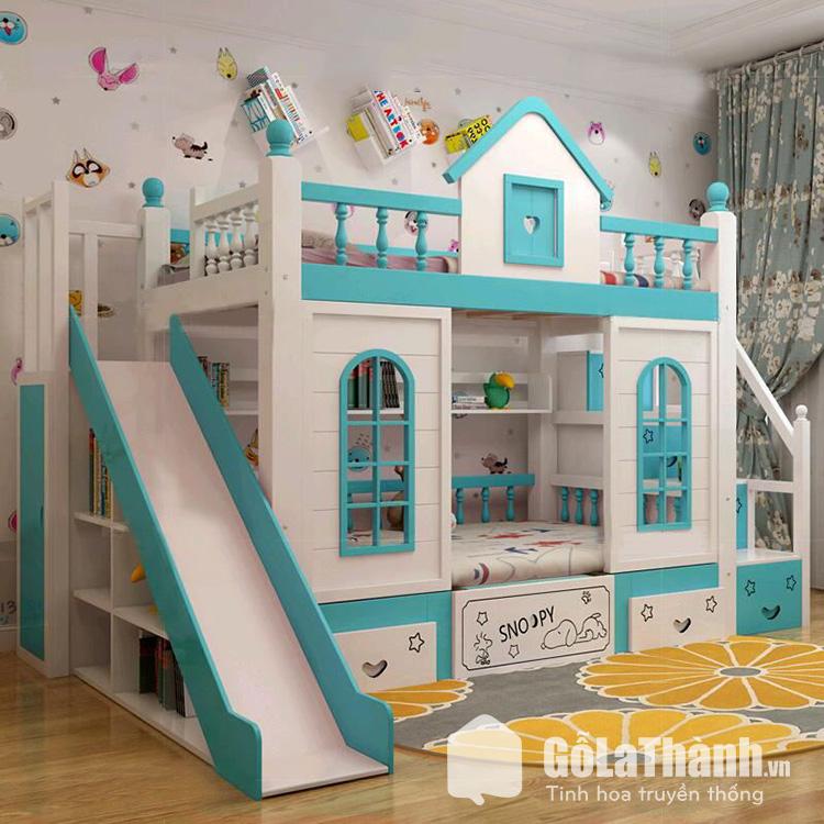 giường 2 tầng trẻ em mô hình lâu đài