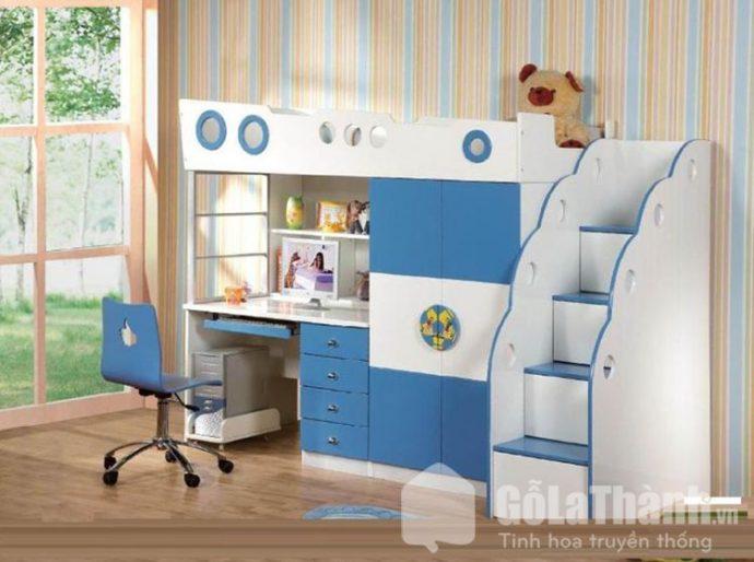 giường 2 tầng trẻ em kết hợp tủ quần áo