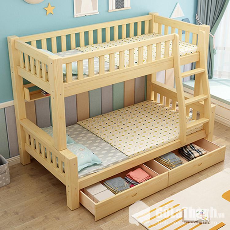 giường tầng có hộc kéo