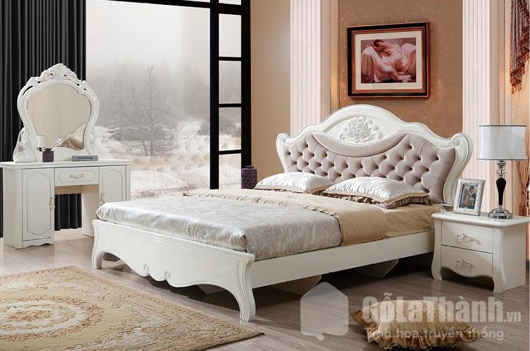 giường ngủ 2m2 tân cổ điển