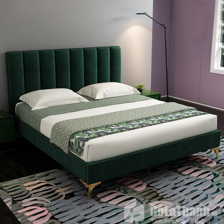 giường bọc nỉ
