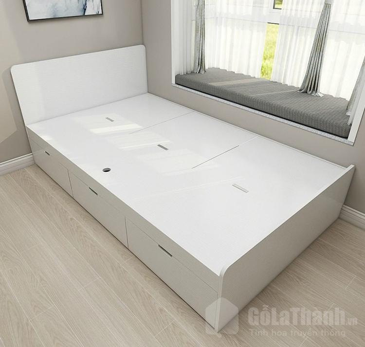 giường đôi đẹp màu trắng