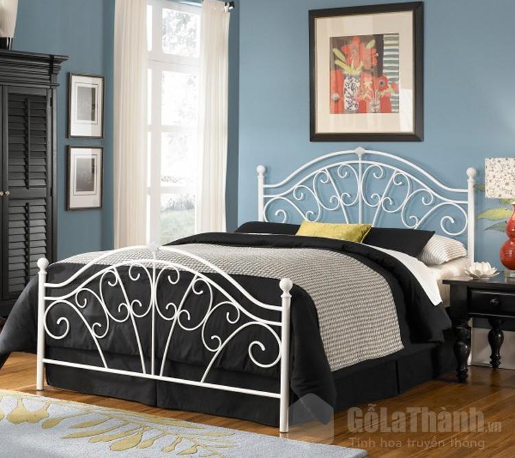 giường đôi đẹp bằng sắt