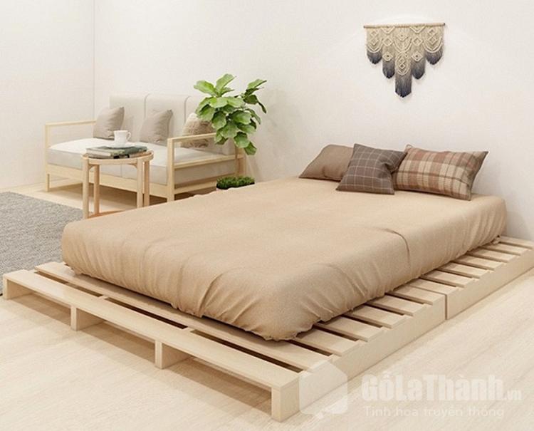 giường đôi đẹp pallet gỗ