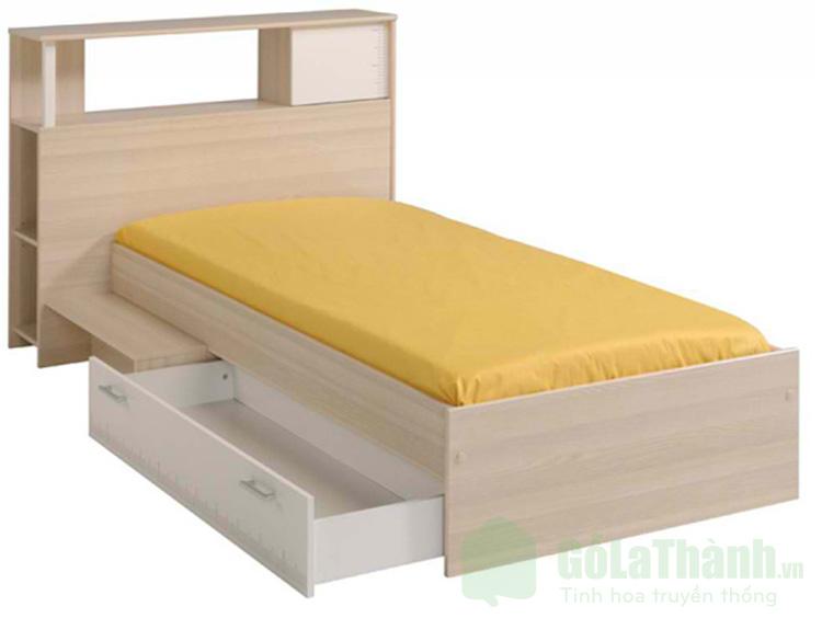 giường ngủ đơn có ngăn kéo chất liệu nhựa