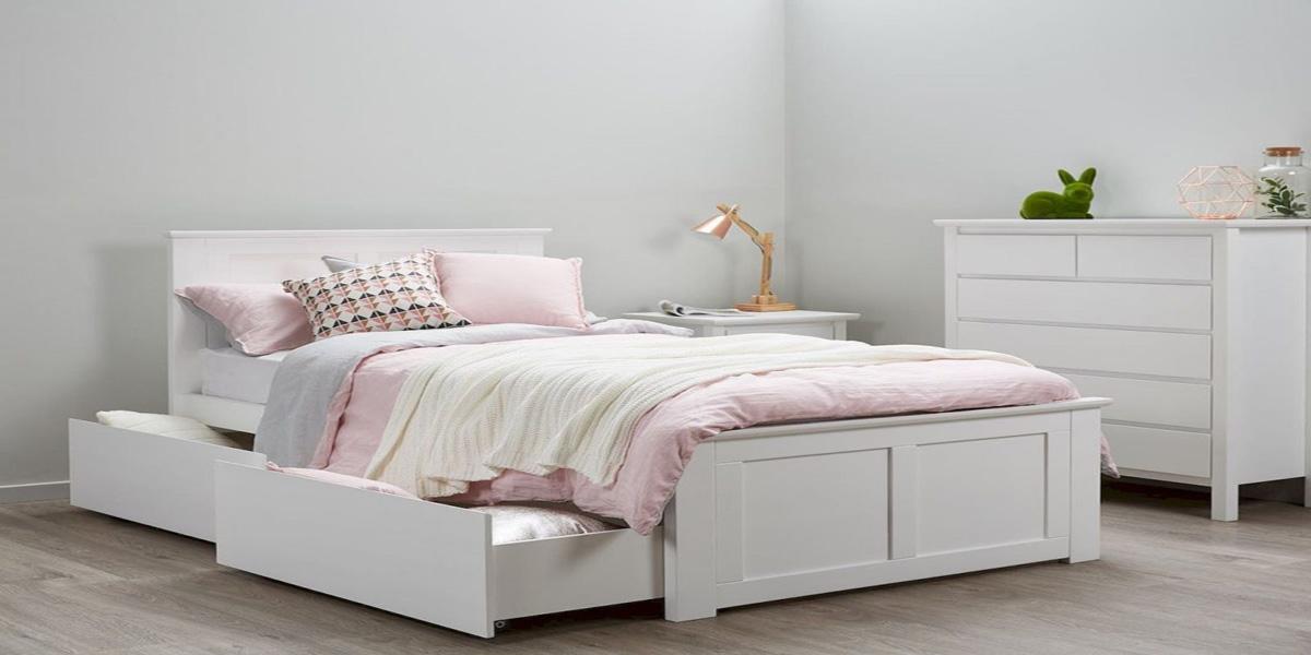 Giường đơn có ngăn kéo – Giải pháp cho phòng nhỏ