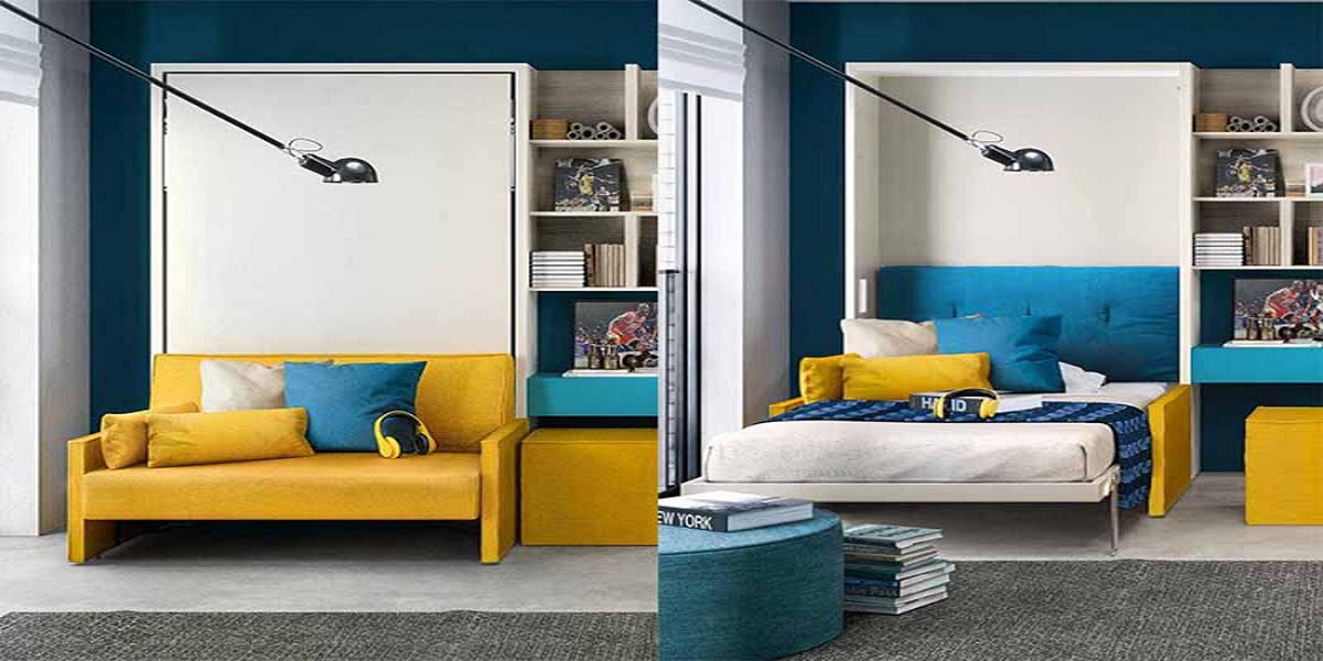 Mẫu giường gấp 1m2 hiện đại cho người độc thân