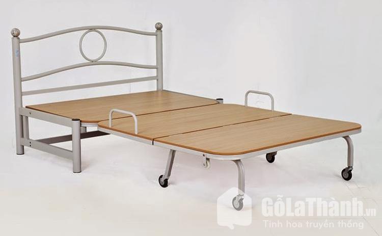 giường gấp 1m2 khung sắt