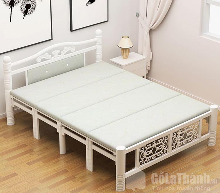 giường gấp 2 người nằm khung sắt
