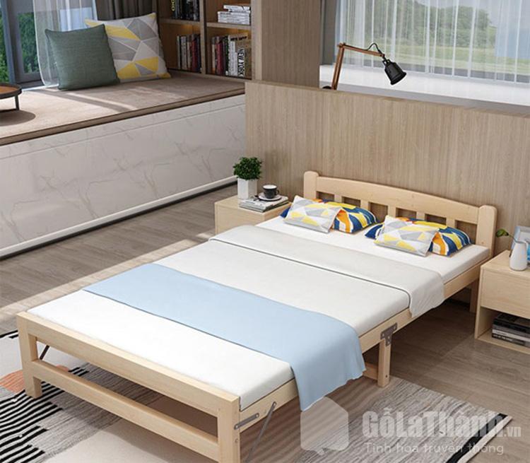 giường ngủ gấp bằng gỗ tự nhiên