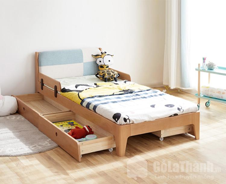 giường gỗ đơn 1m có ngăn kéo