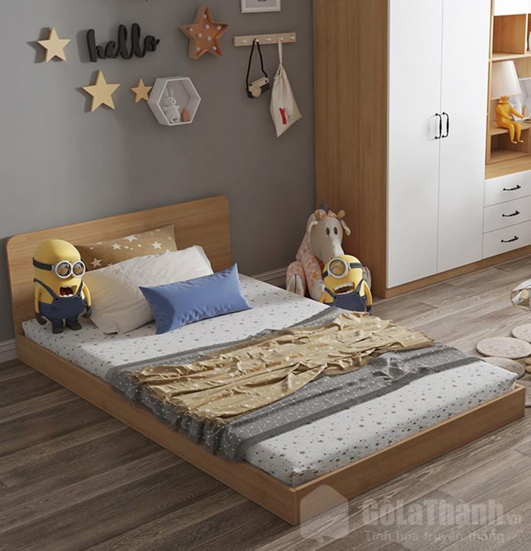 giường gỗ đơn 1m