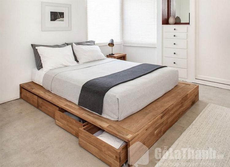 giường gỗ ghép