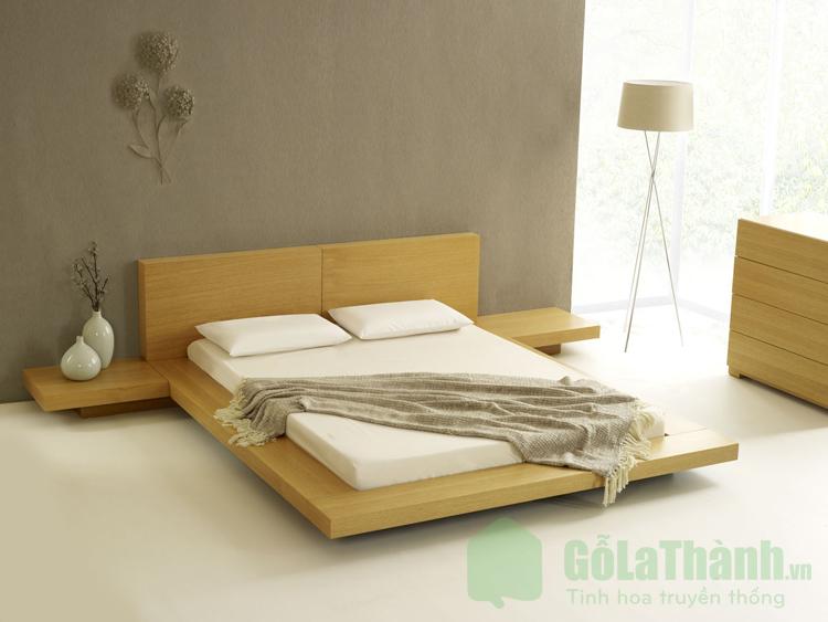 giường ngủ gỗ nhỏ kiểu Nhật