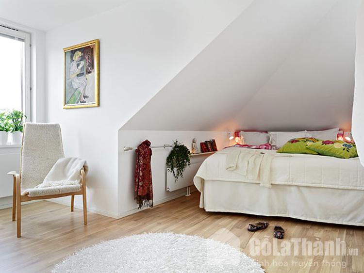 phòng ngủ tầng áp mái