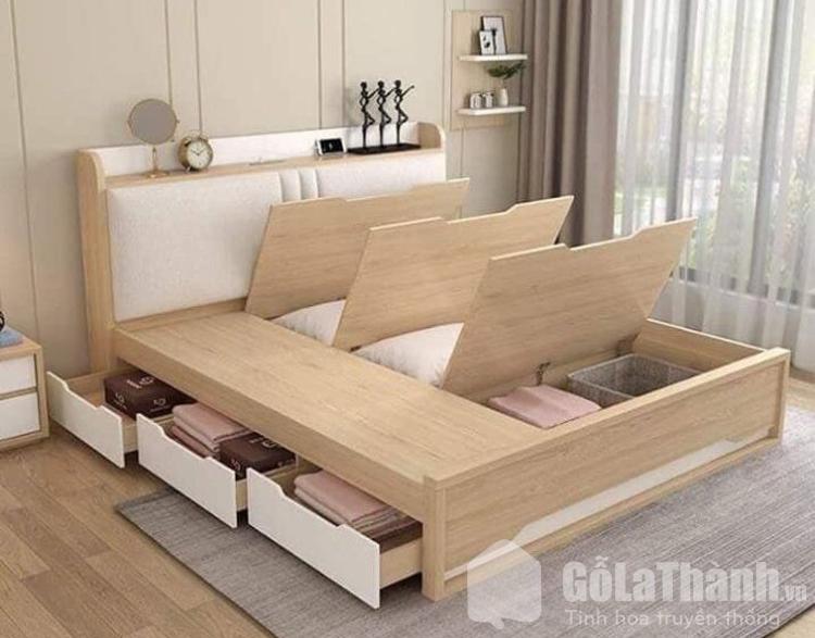 giường m6 có nhiều ngăn kéo thông minh