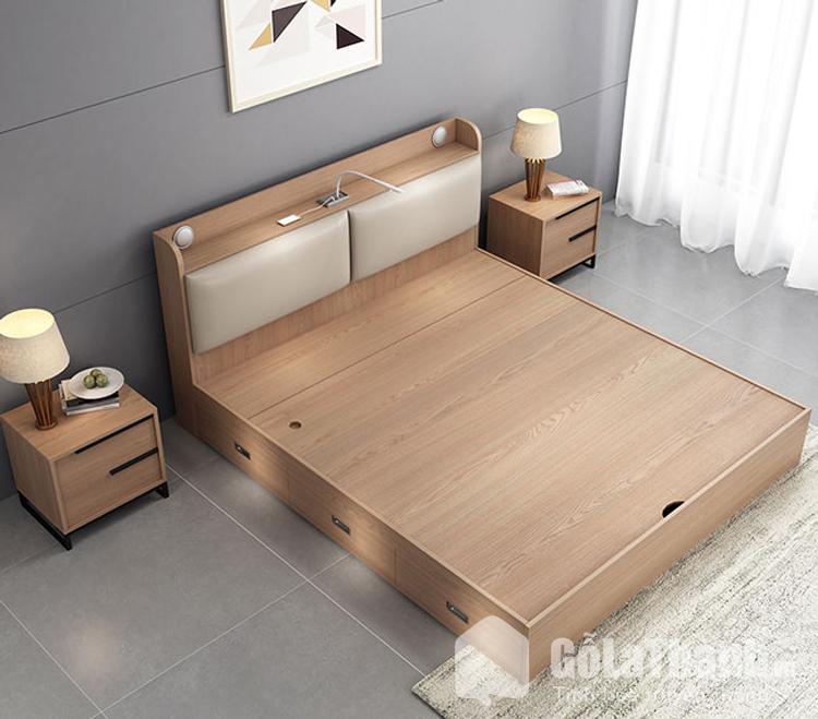 giường m6 làm bằng gỗ công nghiệp