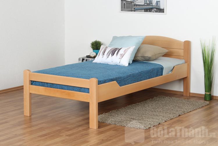 giường ngủ 4 chân cao bằng gỗ