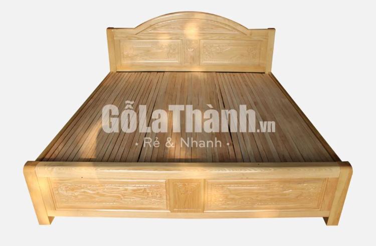 giường 1m8 gỗ sồi