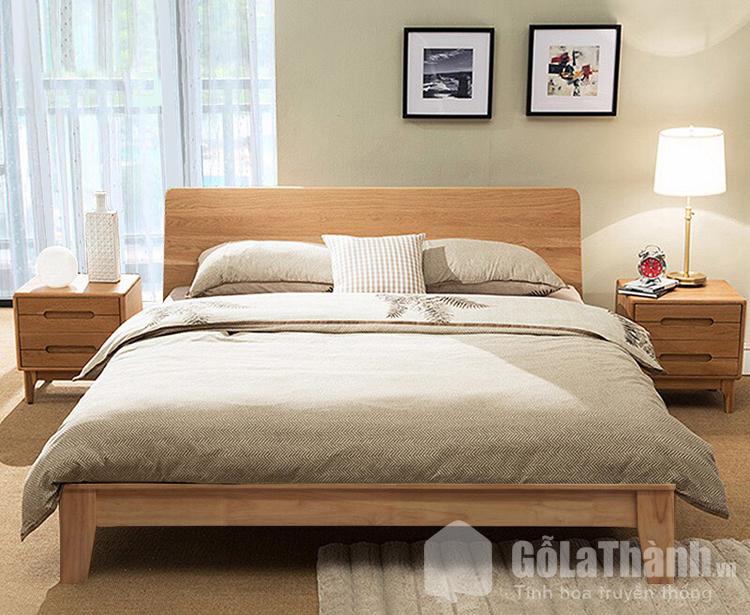 giường ngủ 1m8x2m bằng gỗ tự nhiên