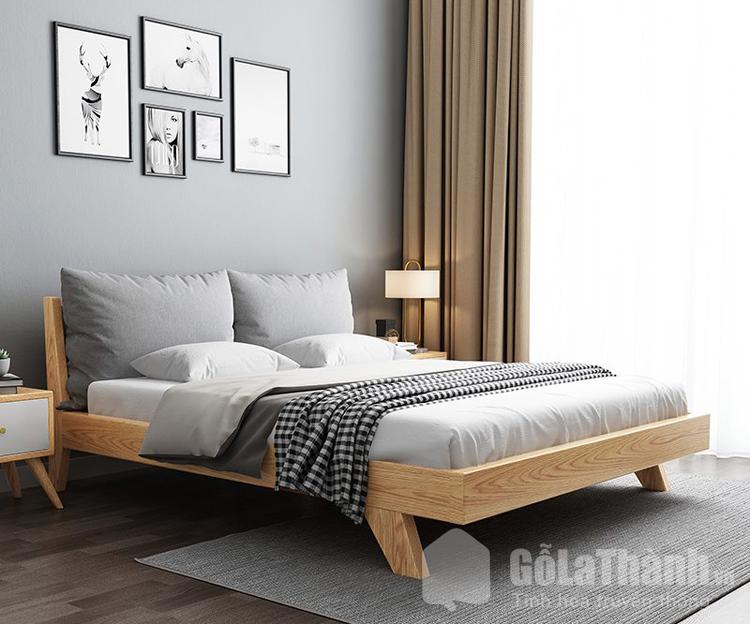giường ngủ 1m8x2m 4 chân thấp chéo