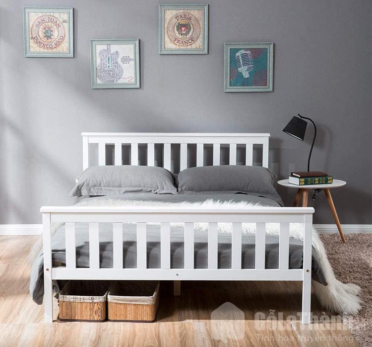 giường ngủ có màu trắng hiện đại