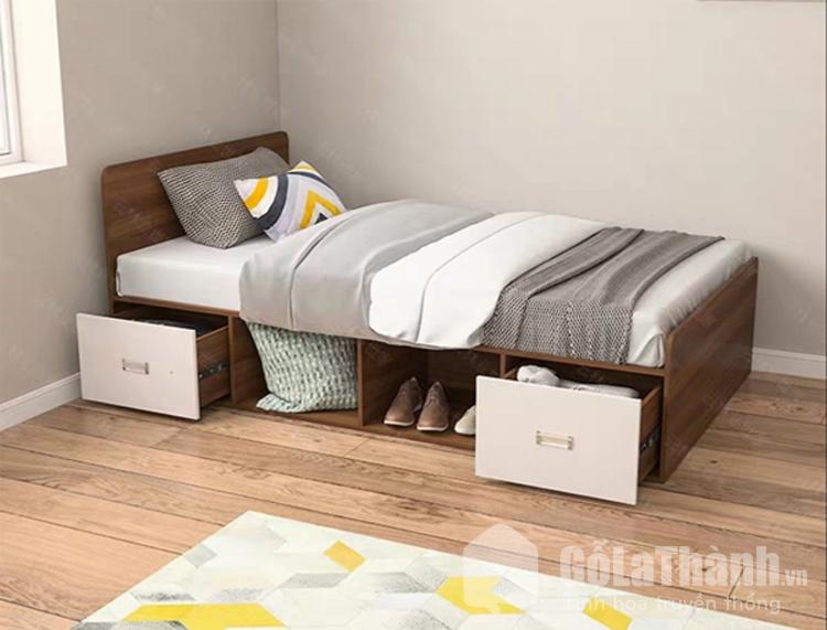 thiết kế cận sàn có ngăn kéo chứa đồ
