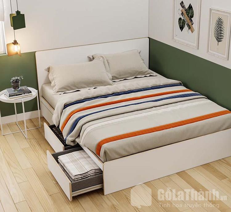 giường ngủ có ngăn kéo bằng gỗ công nghiệp