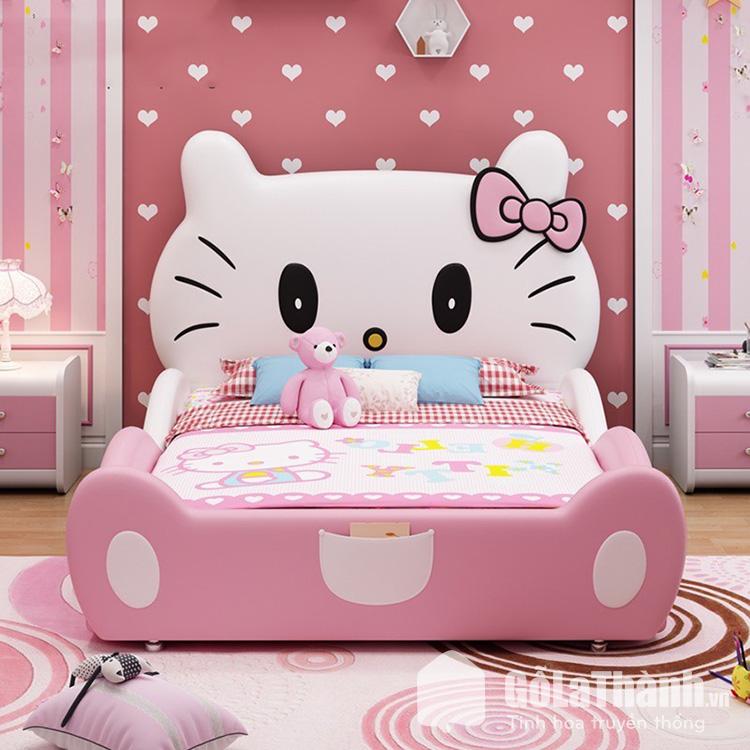 Giường ngủ hello kitty cho bé gái