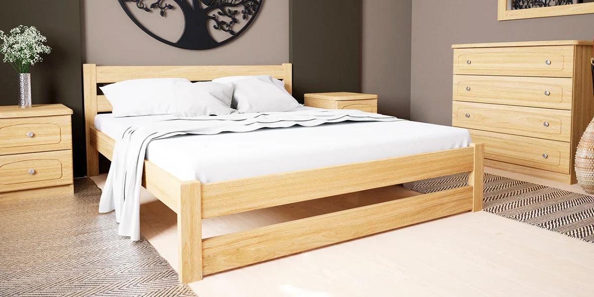 Những mẫu giường ngủ gỗ thông đẹp, giá bán phải chăng