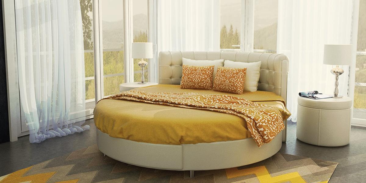 giường ngủ hình tròn