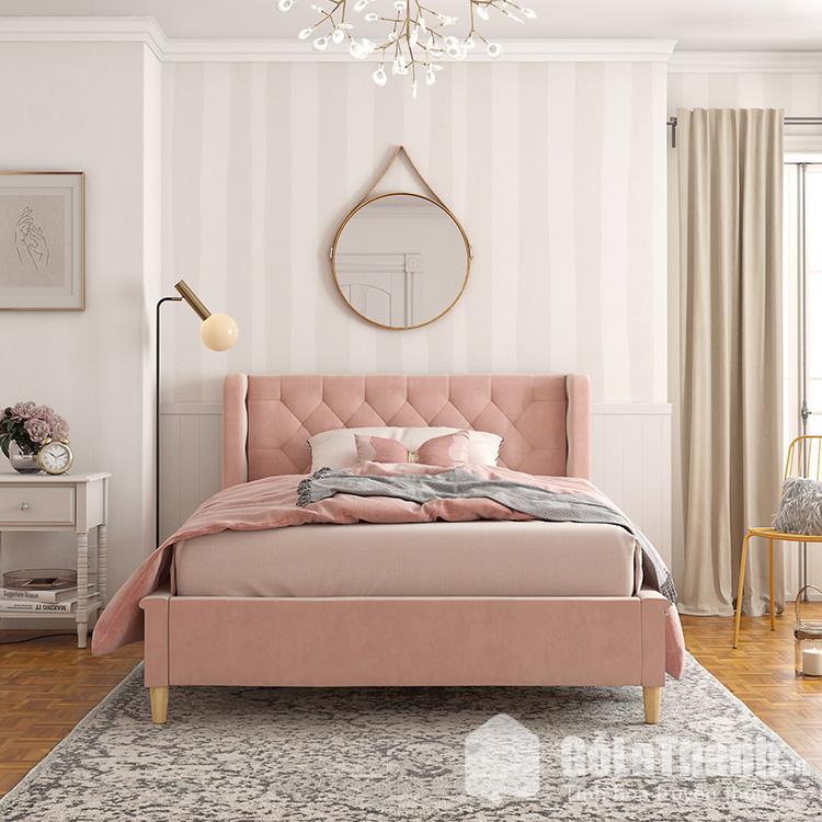giường ngủ màu hồng đẹp