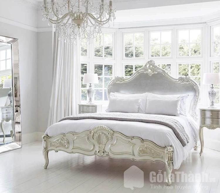 giường ngủ sơn mạ bạc