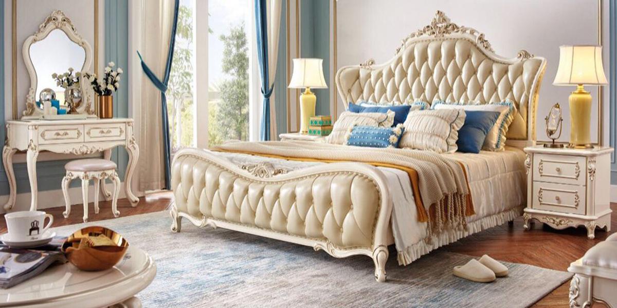Giường ngủ nữ hoàng cho phòng ngủ phong cách cổ điển