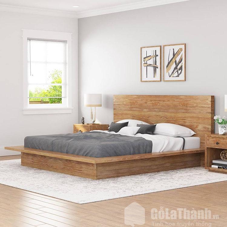 giường Nhật gỗ công nghiệp